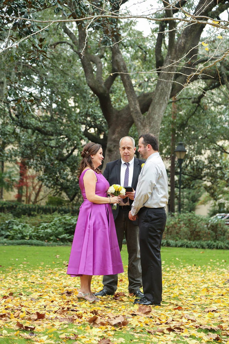 Elopement in Forsyth Park