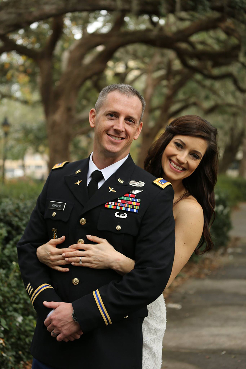 Military Elopement in Forsyth Park