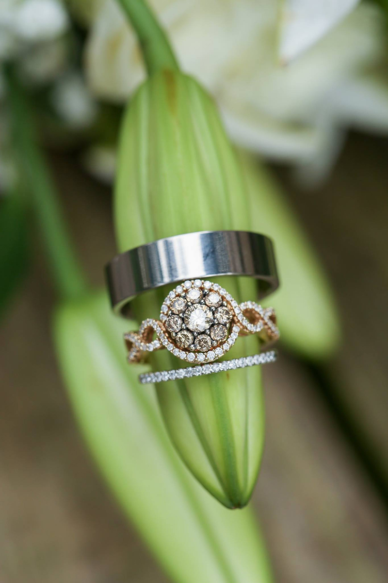 Rings at easy elopement Savannah GA