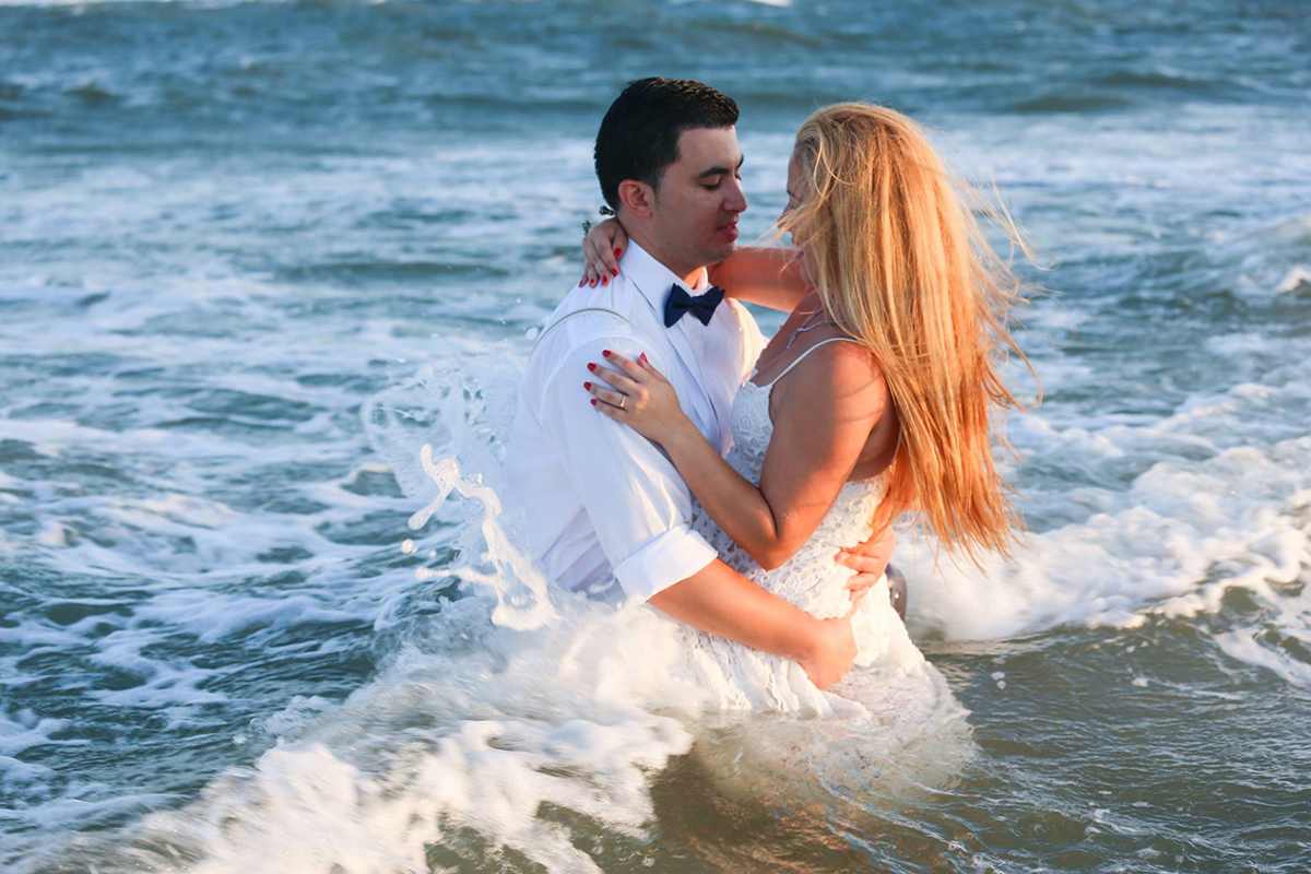 Affordable beach elopement