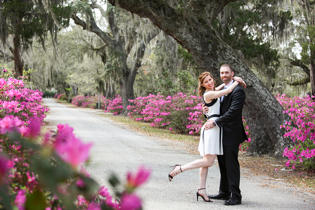 Beautiful cemetery wedding Savannah GA